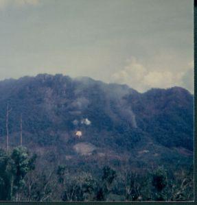 Explosion in AShau Valley, Vietnam