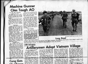 Machine Gunner Cites Tough AO, Cavalair Article, by SP5 Don Graham