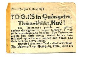 Vietnam War propaganda newspaper article